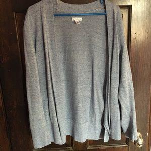 Light Blue Knit Cardigan Sweater